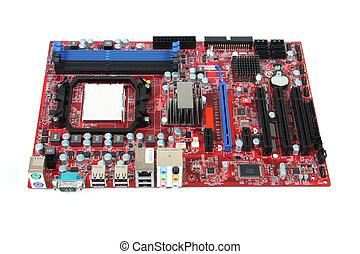 Mainboard - Modern PC computer mainboard. Electronic board...