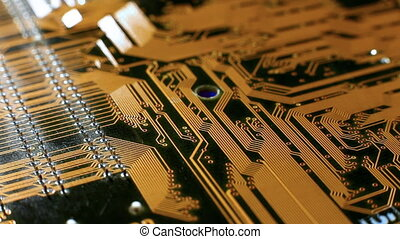 Mainboard view closeup electronic scheme