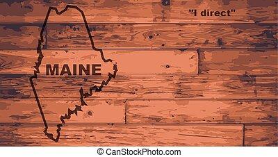 Maine Map Brand