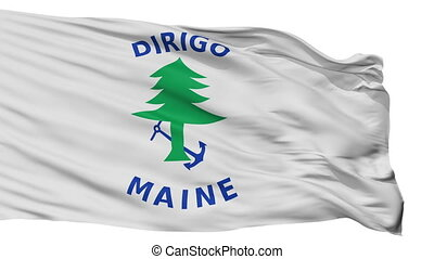 Maine Naval Ensign Flag Isolated Seamless Loop - Naval...