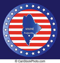Maine state map