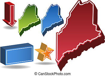Maine State map.