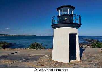 maine, usa., point, homard, ogunquit, lighthouse.