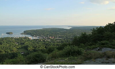 Maine USA scenic view of small town