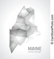 Maine vector triangle polygonal map