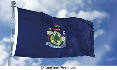 Maine Waving Flag