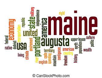 Maine word cloud