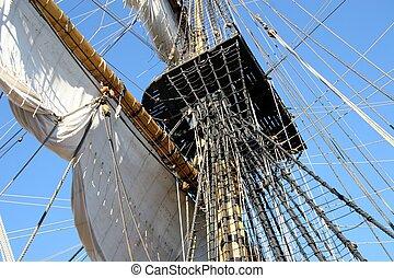 Mainmast - Old ship, mainmast.