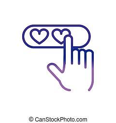 mains, charité, aide, donation, aimez coeurs, cliqueter
