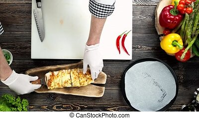 mains, chef cuistot, burrito.