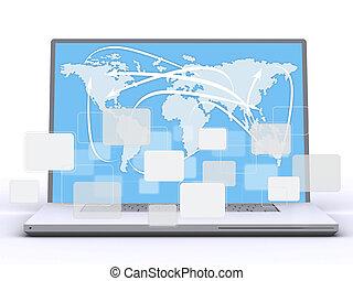 mains, clavier ordinateur