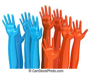 mains, concept, vote