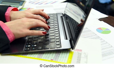mains, dactylographie, clavier