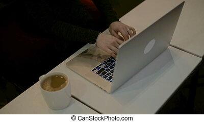 mains, dactylographie, femmes, clavier ordinateur, hd