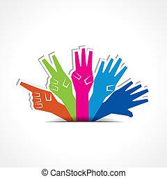 mains, faire, premier, cinq