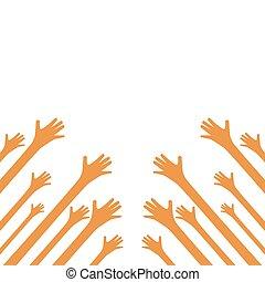 mains haut