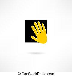 mains, icône