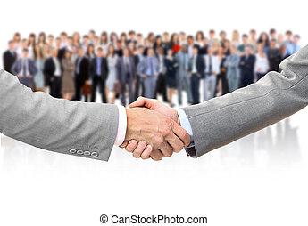 mains, secousse,  Business, équipe