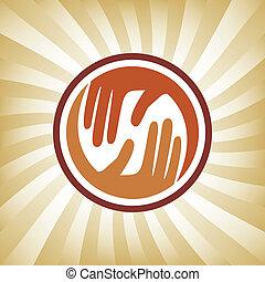 mains, soucier, naturel, design.