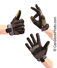 mains, sport, usure, faire gestes