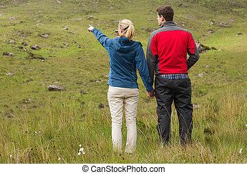 mains, tenue, couple