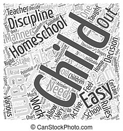 maintaining discipline in homeschooling Word Cloud Concept
