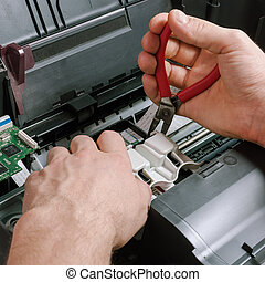 Maintenance and repair of the printer