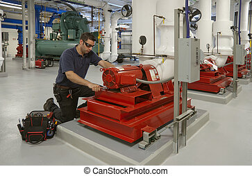 Maintenance contractor - maintenance contractor repairing...