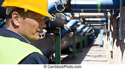 Maintenance engineer at the waste water management system of...
