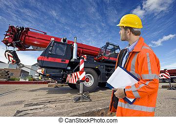 Maintenance engineer - A maintenance engineer overlooking a...