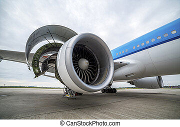 Maintenance of engine in an airplane