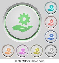 Maintenance service push buttons