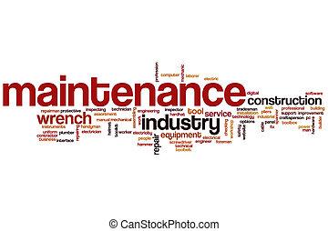 Maintenance word cloud concept