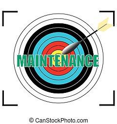 MAINTENANCE word Vector, business concept.