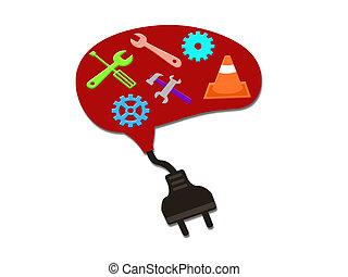 maintenance/repair tool for brain