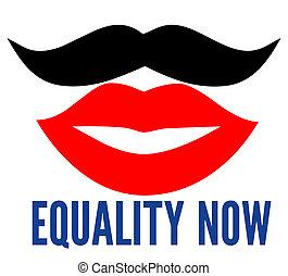 maintenant, égalité