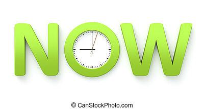 maintenant, horloge