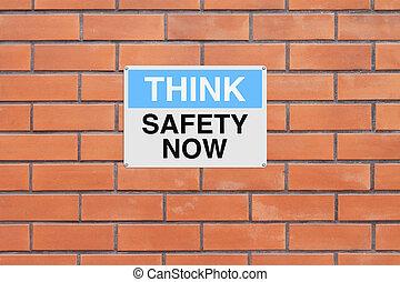 maintenant, sécurité, penser