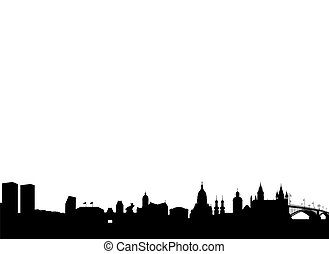Mainz Silhouette black abstract