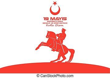 maio, 19, ataturk, comemoração