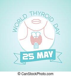 maio, 25, dia, mundo, tiróide