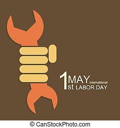 maio, modernos, 1, vetorial, internacional, dia, trabalho