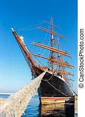 maior, four-master, sailingship, em, gdynia, polônia
