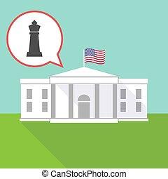 maison, échecs, figure, roi blanc