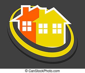 maison, élégance, icône