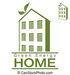 maison, énergie, appartement, vert
