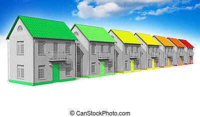 maison, énergie, efficacité, concept