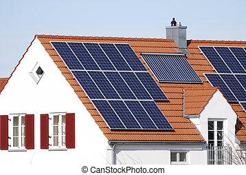 maison, énergie, regenerative, système