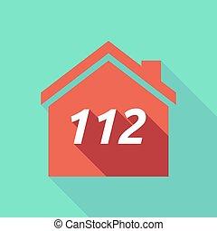 maison, 112, ombre, long, texte