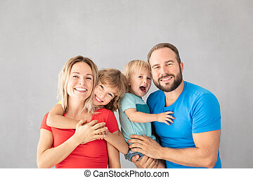 maison, amusement, parents, enfants, avoir